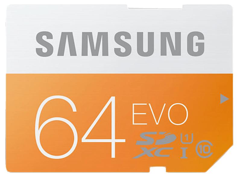 2 x SAMSUNG EVO SDXC Speicherkarte , 64 GB für 26,32€ oder 3 Stück für 36,96€  / Media Markt !