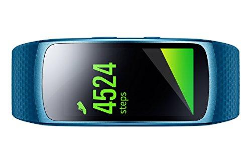 Samsung Gear Fit 2 Smartwatch mit Pulssensor und Benachrichtigungen - Blau (L) fur 99
