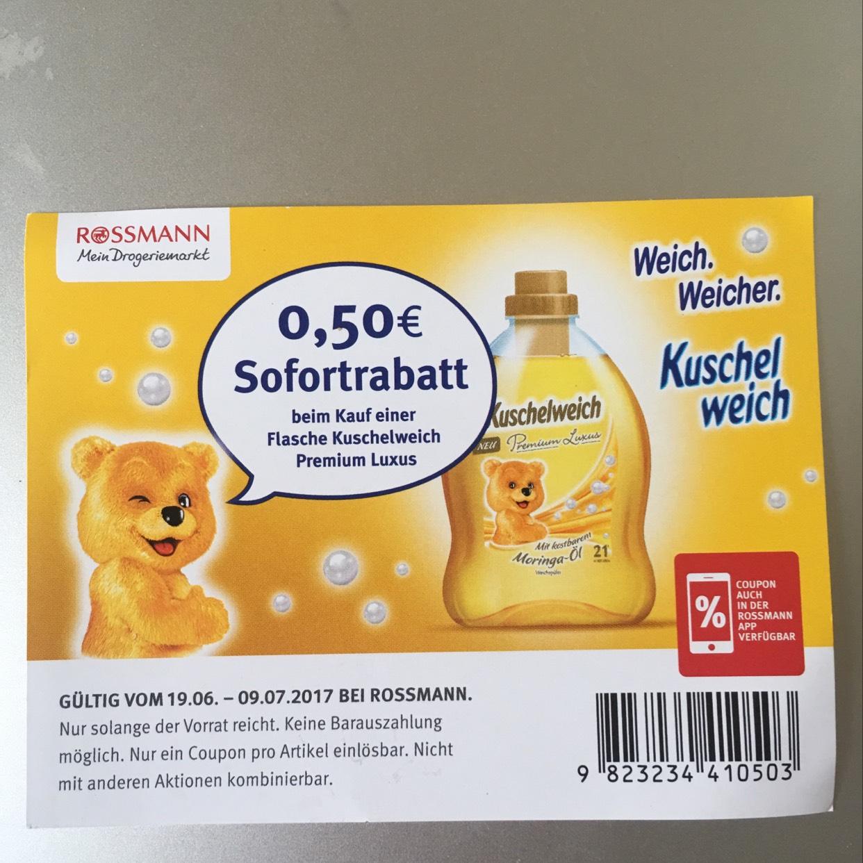 Kuschelweich Weichspüler für 0,38€