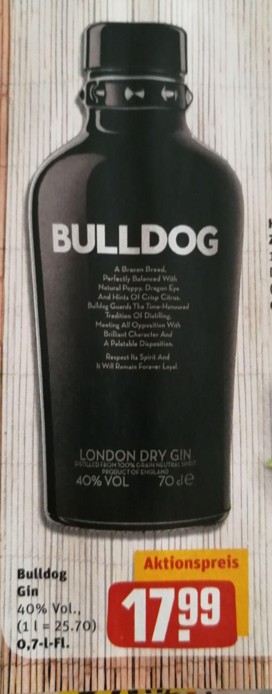 Bulldog Gin 0,7l bei Rewe