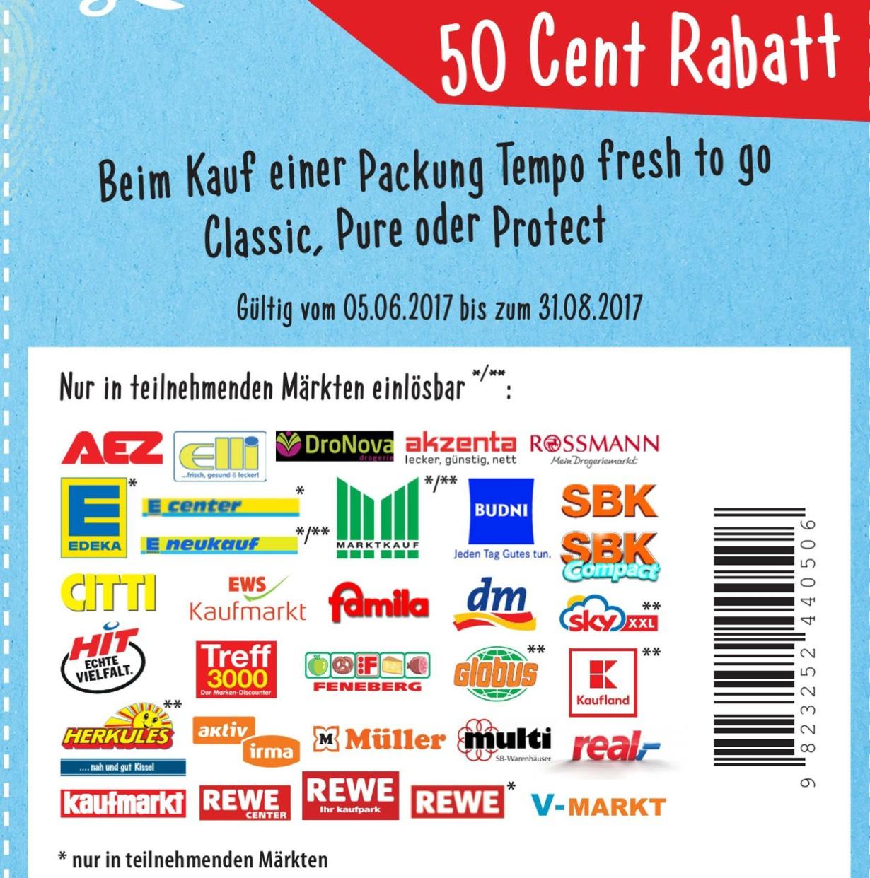 Tempo Fresh and Go für 0.29€