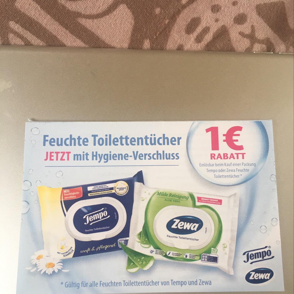 Tempo Feuchtes Toilettenpapier 0,59€