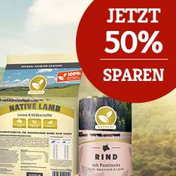 Hundeland 50% Rabatt auf Naturals Getreidefreies Hundefutter + 3Kg Gratis  (18kg für 30€)
