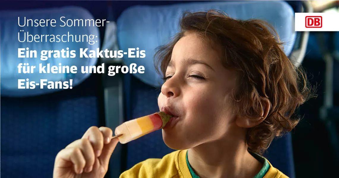 Gratis Schöller Kaktus Eis in ICE Zügen und DB Lounges (ICE Ticket oder Comfort status benötigt)