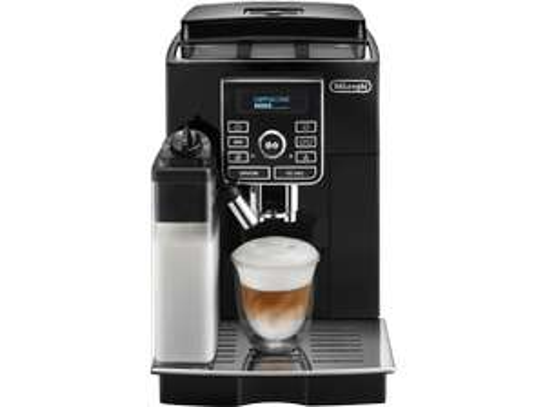 [Saturn Super Sunday] DELONGHI ECAM 25.467.B, Kaffeevollautomat, 1.8 Liter Wassertank, 15 bar, Kegelmahlwerk, Schwarz