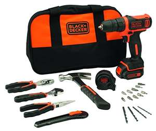 [Amazon.Fr]  Black & Decker BDCDD12HTSA Kompakt Akku-Bohrschrauber 10.8V Zubehör + Tasche