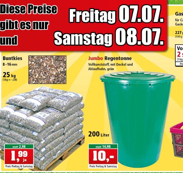 [Thomas Philipps ab 7+8.07.] Jumbo-Regentonne (200 Liter) mit Deckel und Ablaufhahn