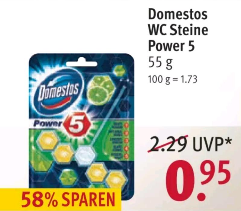 Rossmann Domestos WC Steine Power 5 nur 0,95€ (Lokal?)