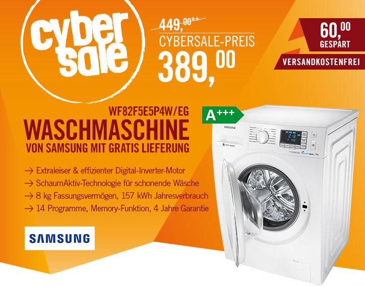 Samsung Waschmaschine WF 82 F5E5P4W - 8kg Waschmaschine, Digitaler Inverter Motor (10 Jahre Garantie), Vollwasserschutz + 4 Jahre Garantie auf die Maschine + Lieferung in die Wohnung