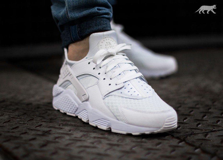 [jump-n-shoez] Nike Air Huarache in White-White-Pure Platinium für 59,95€