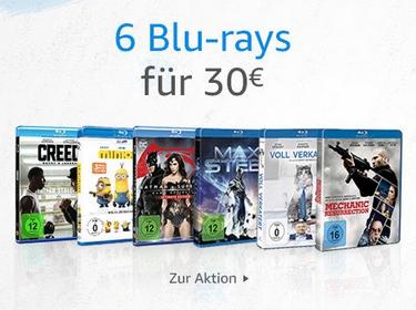 Amazon: 6 Blu-rays für 30€