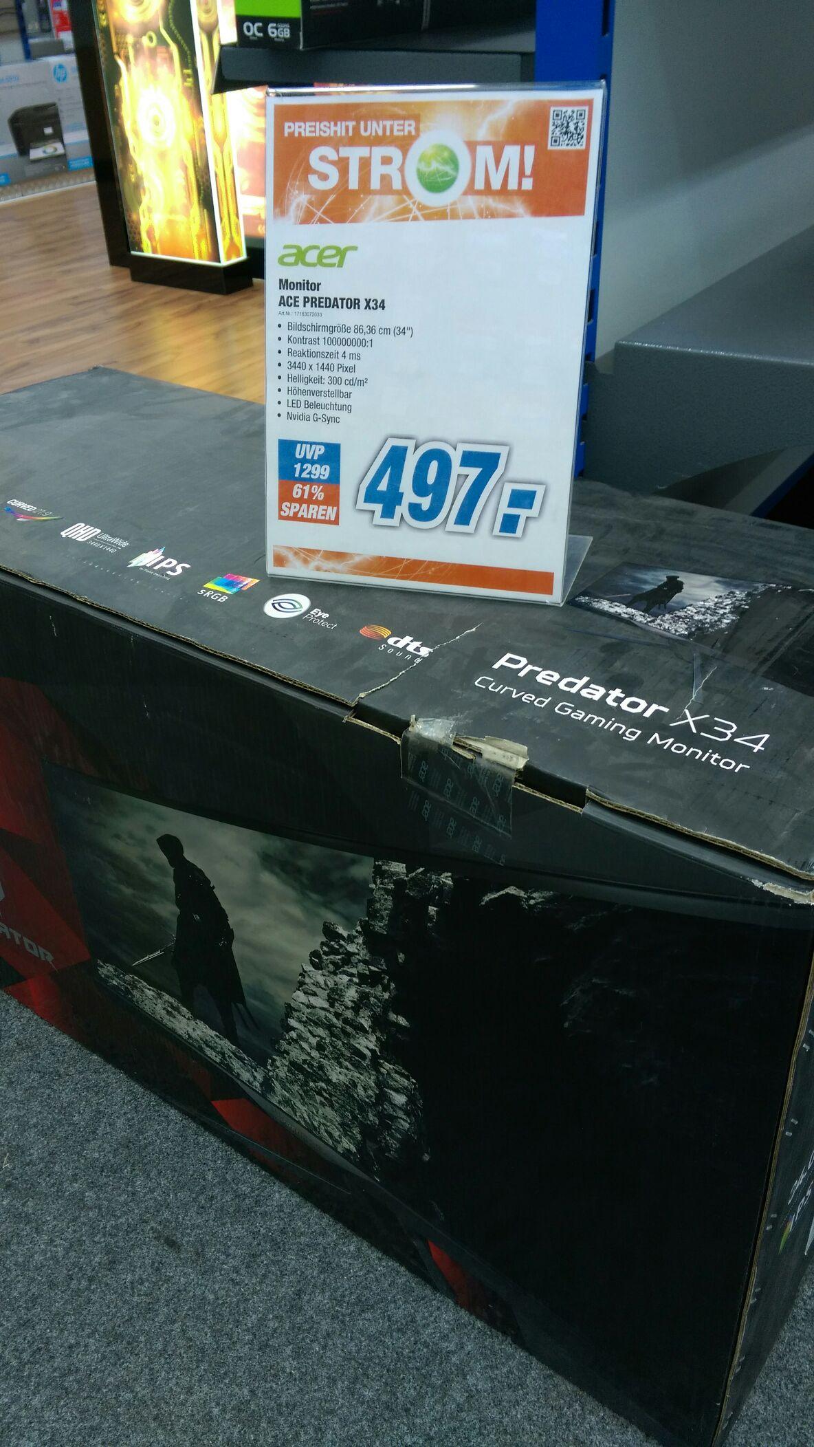Acer Predator X34 Monitor B-Ware Lokal