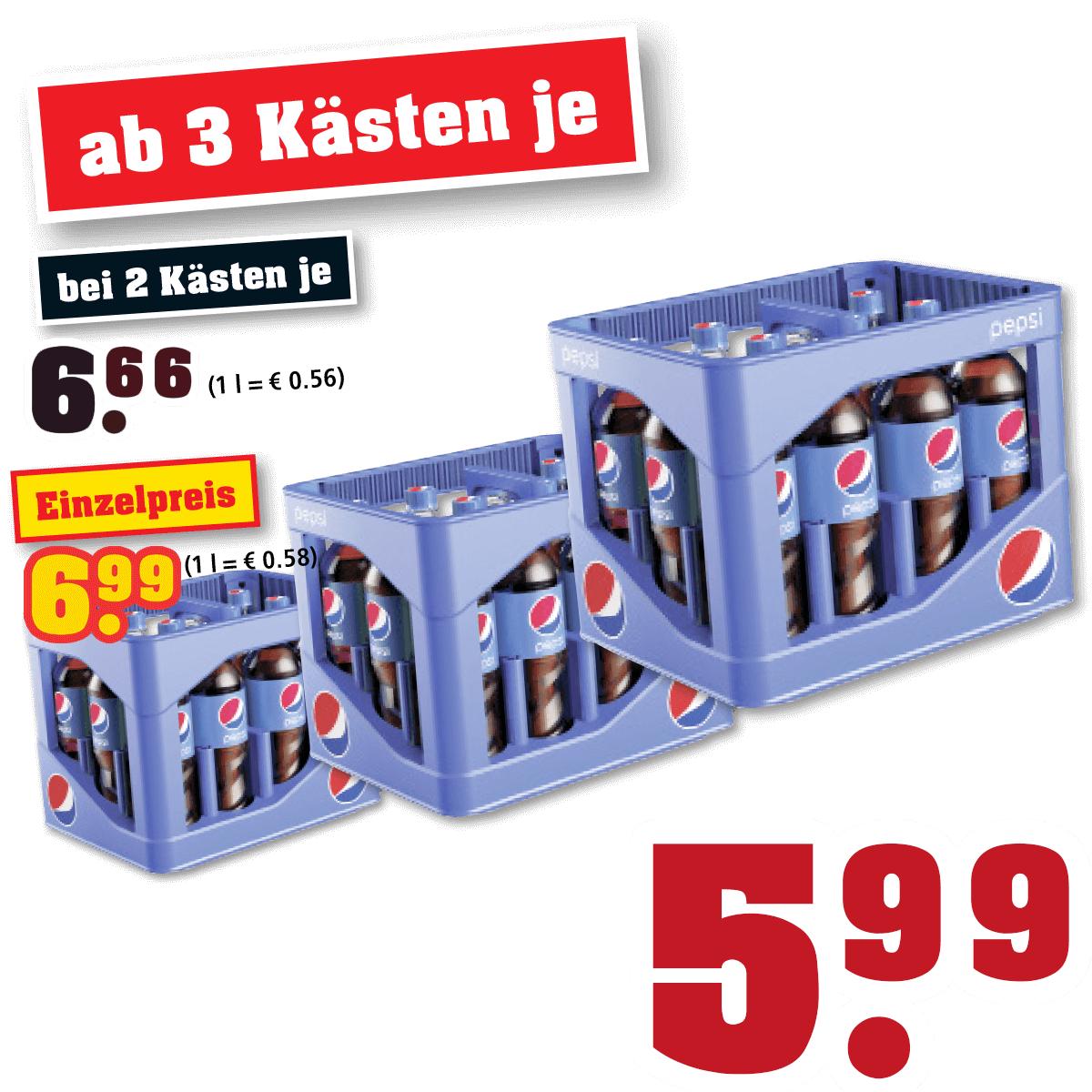 36 Liter Pepsi für 50 cent je Liter