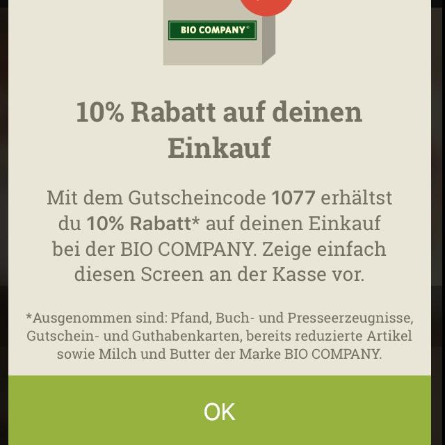 Berlin/Potsdam: 10% Rabatt bei der Bio Company
