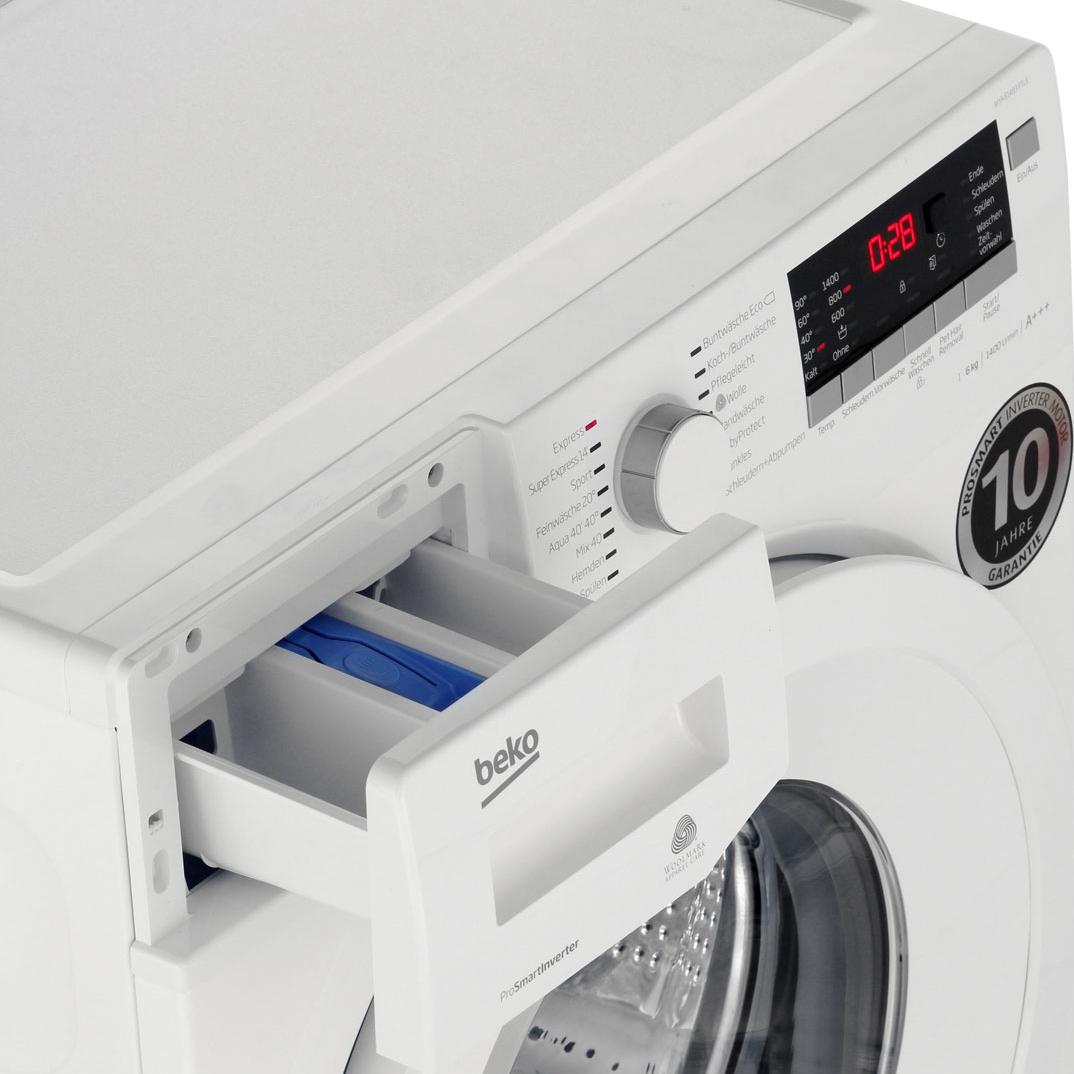 Zwei günstige Waschmaschinen bei den Beko SparTagen @ao - z.B. 6kg, A+++ mit 1400U/min und Brushless-DC-Motor für 264 €