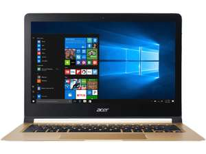 [Saturn LNS Special] ACER Swift 7 (SF713-51-M2SB), Ultrathin-Notebook mit 13.3 Zoll Display, Core™ i5 Prozessor, 8 GB RAM, 256 GB SSD, HD-Grafik 615, Midnight Black/Champagne + 1 Jahr Office 365 für 999,-€