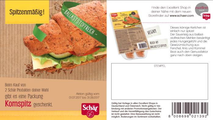 [Schär] glutenfreie Kornspitz Brötchen gratis