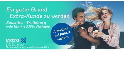 25% Rabatt auf die Fährüberfahrt Sassnitz-Trelleborg und Trelleborg-Sassnitz