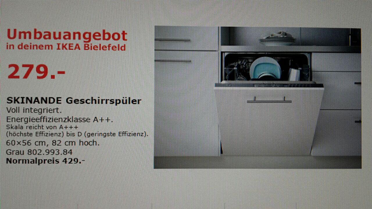 [Ikea Bielefeld] Geschirrspülmaschine Skinande für 279€