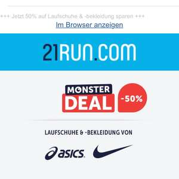 Nur heute: -50% auf ASICS & Nike!