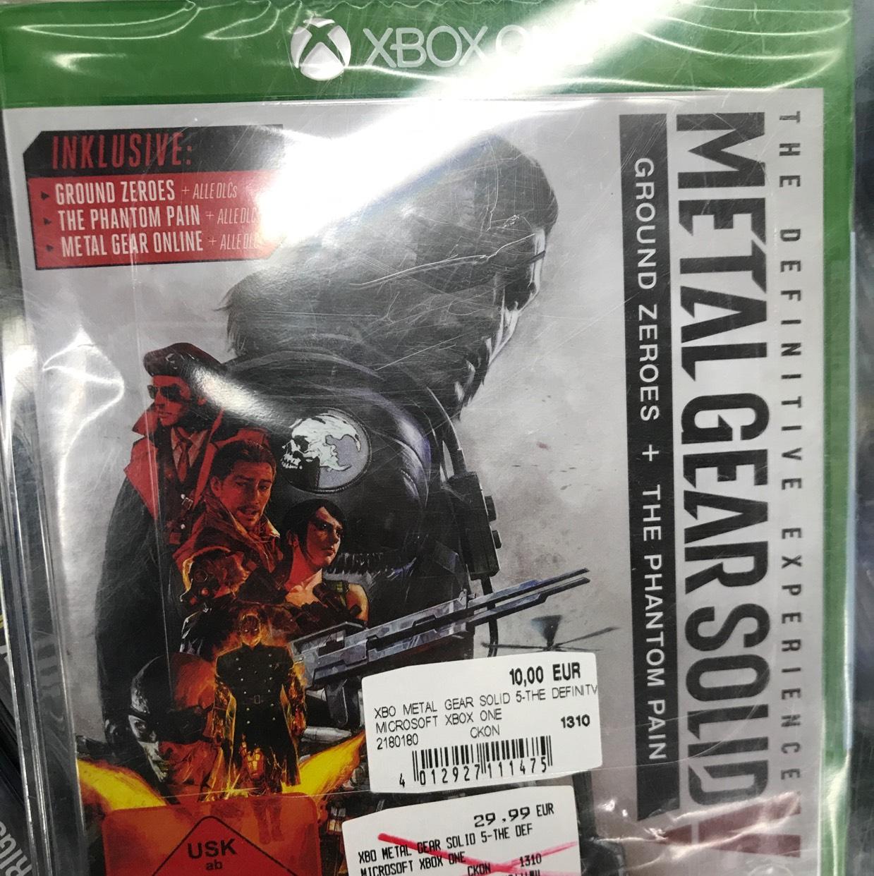 [Lokal Media Markt Berlin] Metal Gear Solid 5 - The Definitive Edition (Xbox one) für 10 €