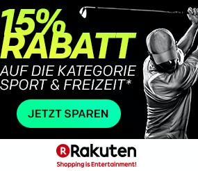 """Vorankündigung: Ab morgen 10 Uhr 15% Rabatt auf alle Produkte der Kategorie """"Sport & Freizeit"""" bei Rakuten (MBW: 30€)"""
