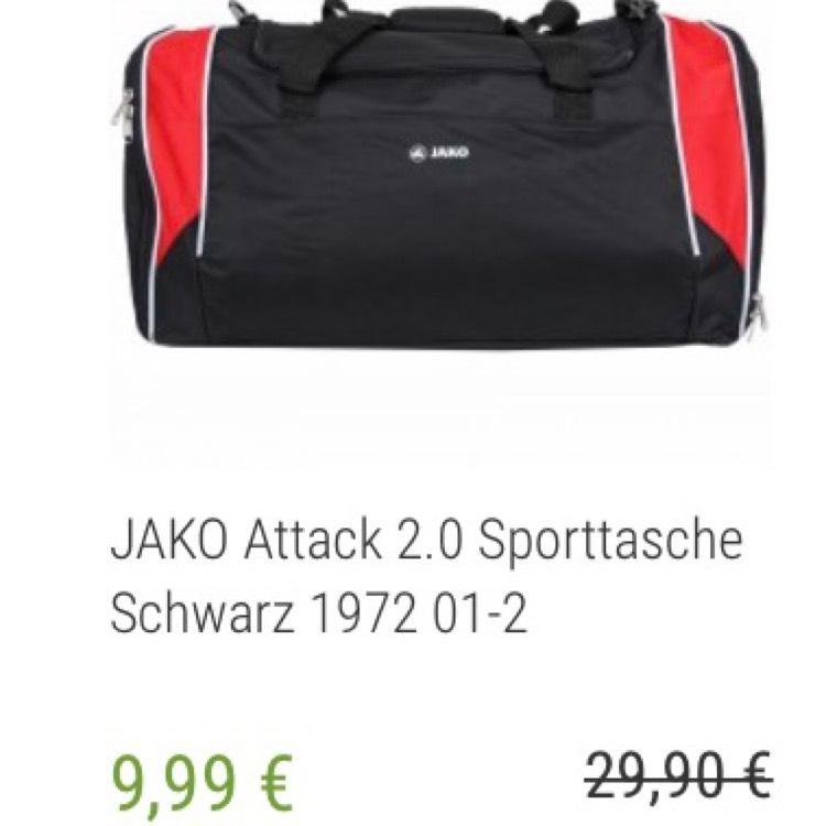 [Outlet46] JAKO Attack 2.0 Sporttasche in verschiedenen Farben für je 9,99€