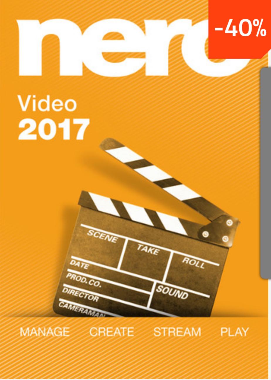 Nero 2017 Video bei MySoftware 40% günstiger! Bestpreis laut idealo!**