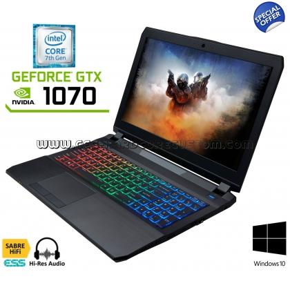 """15,6"""" Clevo P650HS-G mit GTX 1070, i7-7700HQ, 8GB RAM, 250GB SSD"""