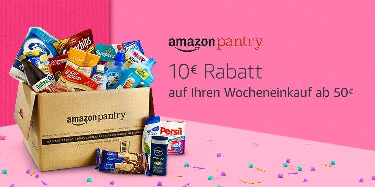 10 EUR Rabatt auf Pantry-Einkauf ab 50 EUR [Amazon]