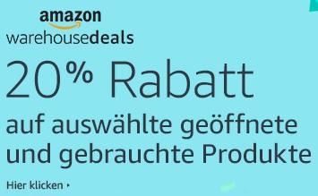 [Amazon DE/FR/IT/UK Prime] 20% Rabatt auf (viele) ausgewählte WHD-Artikel