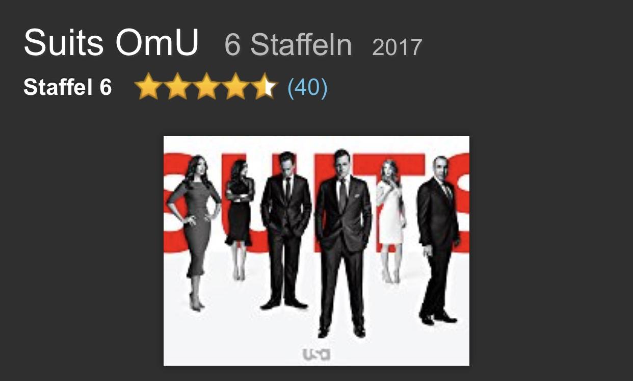 Suits Staffel 6 Omu bei Amazon für Primekunden