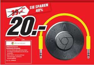 [Lokal Mediamarkt Nienburg] Google Chromecast Audio - Streaming Audio Player - Schwarz für 20,-€