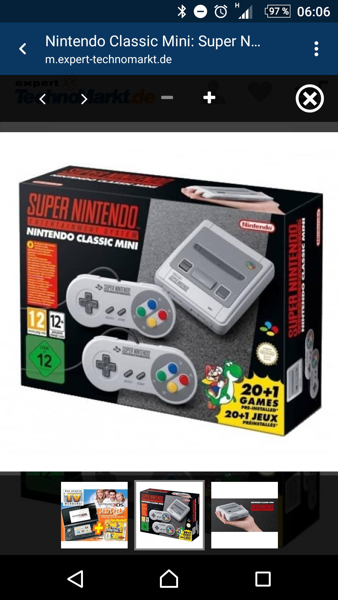 Super Nintendo classic Mini für 99 Euro bei Expert-Technomarkt vorbestellbar