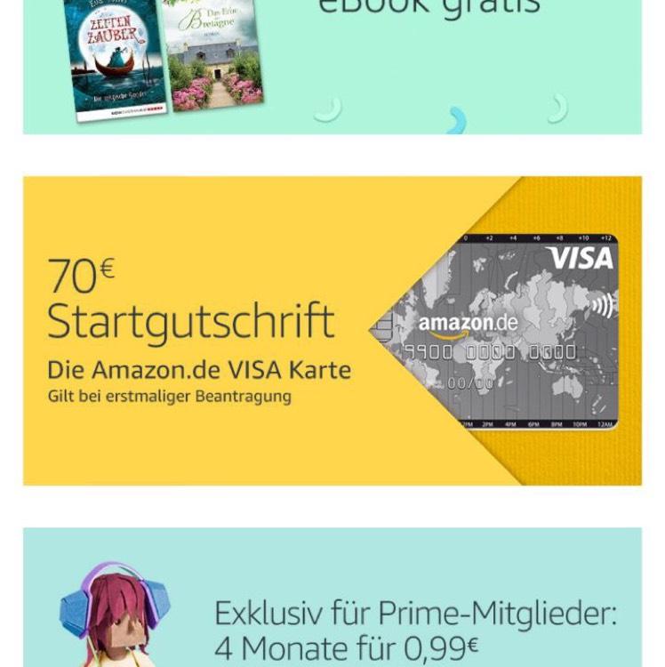 Kreditkarte mit 70€ gutschrift + monatlich kündbar