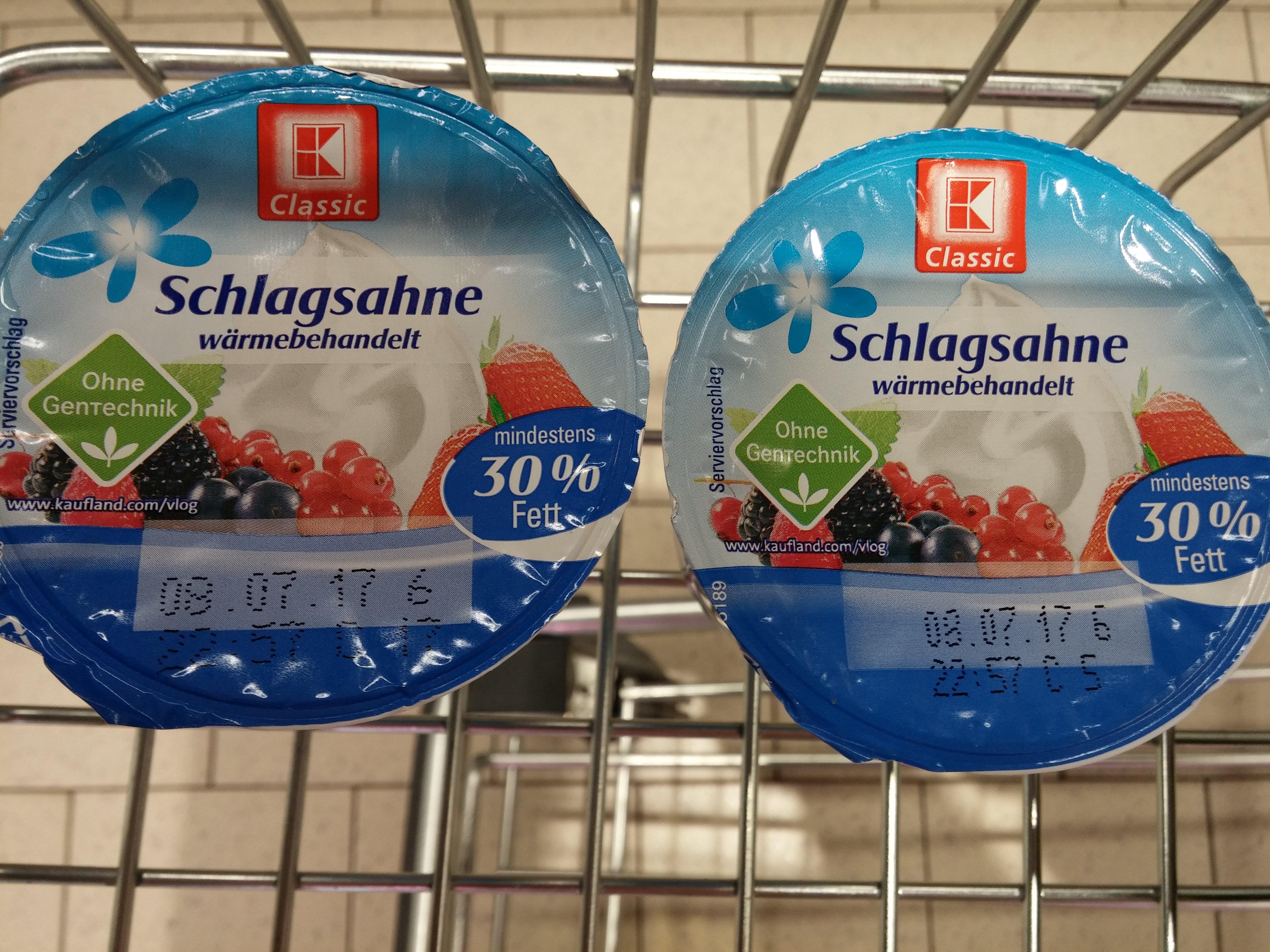 Schlagsahne K-Classic, 200 g, 30 % für 1 Cent @ Kaufland Bad Salzungen