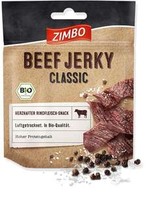 Zimbo BIO Beef Jerky Classic & Pepper 5x75 g für 11,52€ (Amazon Prime)