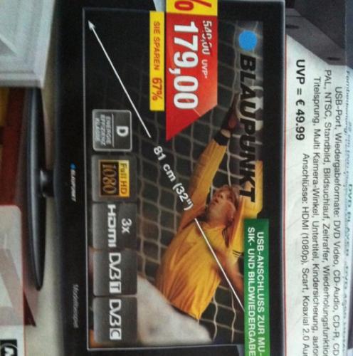 Blaupunkt LCD - TV bei Marktkauf 179,00 EUR Lokal