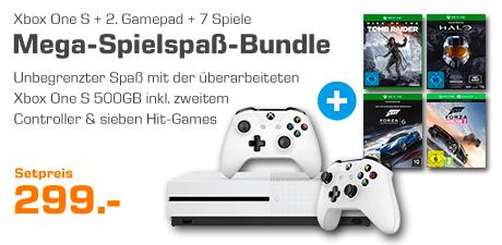 Xbox One S + 2. Controller + 7 Spiele für 283,99€
