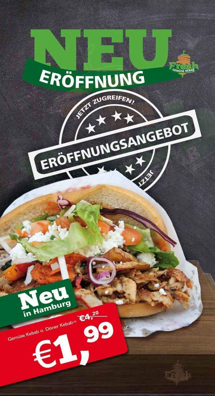 Fresh Gemüse Kebab 1.99€ Neueröffnung Hamburg Wandsbekerchaussee