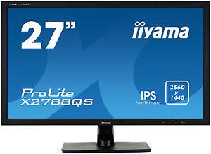 "iiyama ProLite X2788QS-B1, 27"" FreeSync 1440p IPS höhenverstellbarer Monitor"
