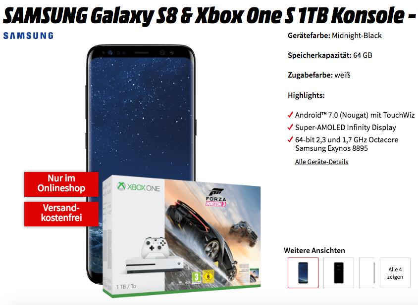 Samsung Galaxy S8 + xBox One S Forza Bundle bei Mediamarkt