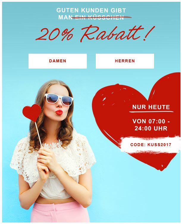 Daniel Hechter 20% Rabatt auf Alles! - Tag des Kusses