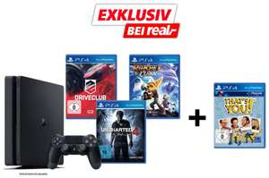 [Real] Sony Playstation 4 1TB Slim inkusive Uncharted 4, Driveclub und Ratchet & Clank + That's You!
