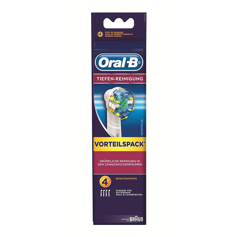 Oral-B Tiefen-Reinigung Aufsteckbürsten, 4er Pack
