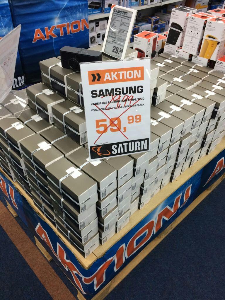 Lokal Saturn Magdeburg Bluetooth Lautsprecher Samsung level box mini schwarz EO-SG900 für 29,99€ idealopreis ab 44,90€