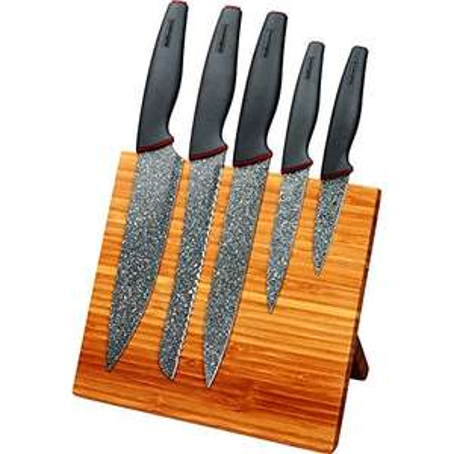 5-teiliges Hoffmanns Messerset mit Magnet-Messerblock für 16,99€ (AMZ - Premium)  statt 22,99€
