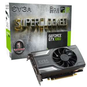 6GB EVGA GeForce GTX 1060 SC GAMING 06G-P4-6163-KR für 242,20€ - amazon
