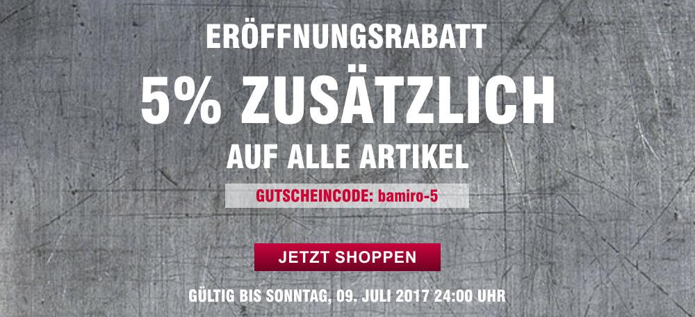 bamiro.de - 5% Eröffnungsrabatt zusätzlich auf alles!