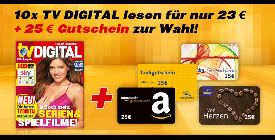 Spartanien.de ; TV digital XXL: 10 Ausgaben für 23 EUR inkl. 25 EUR Amazon.de Gutschein